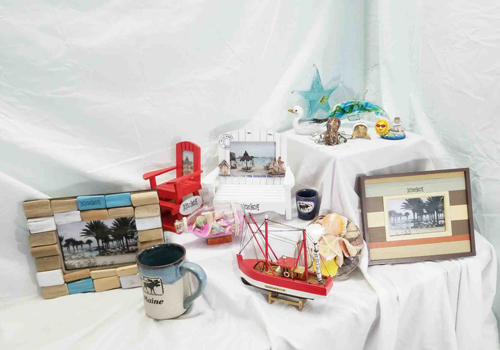 Beach Souvenirs Available at St. Tropez Beach Store